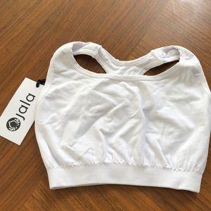 NWT Jala white sports bra one size